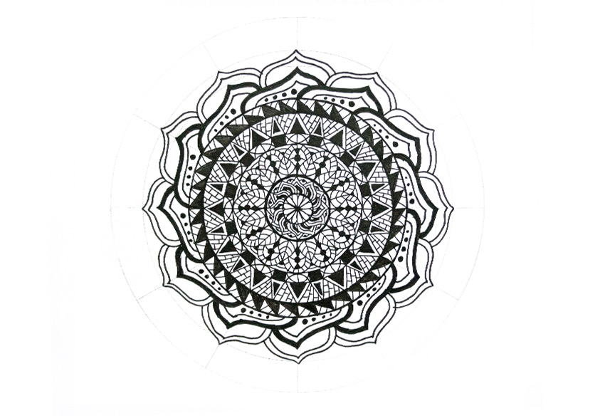 mandala petals with clean frame