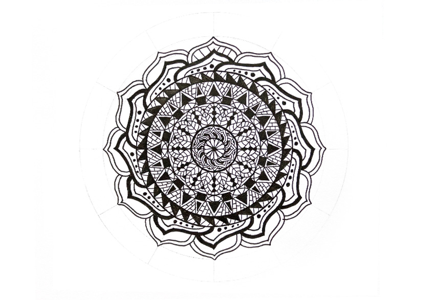 mandala simple pattern inside