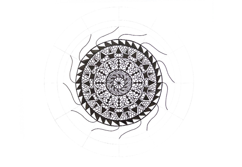 Art Therapy: How to Draw a Mandala