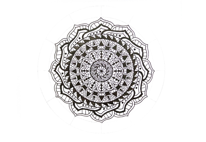 mandala simple pattern fill