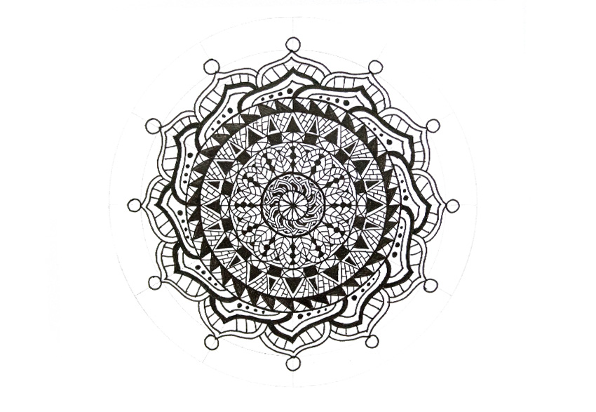 mandala small circles attached