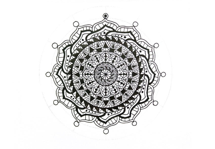 mandala fill the circle