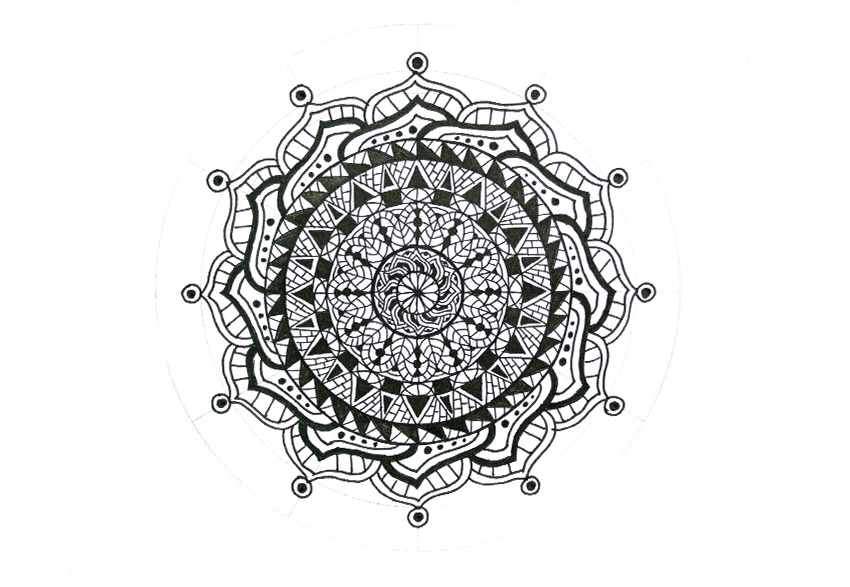mandala circles filled