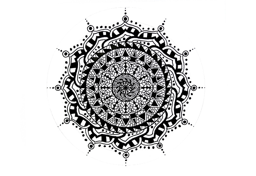 mandala finished