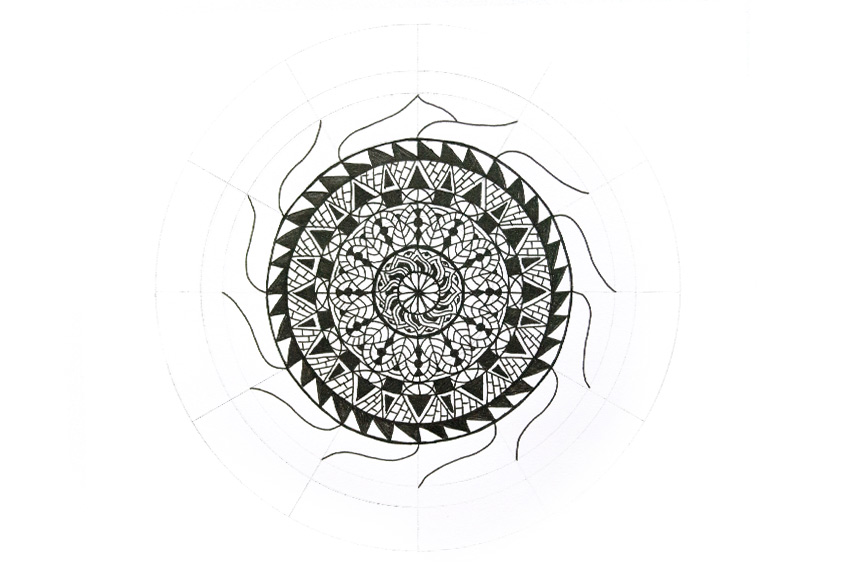 mandala big petals second side