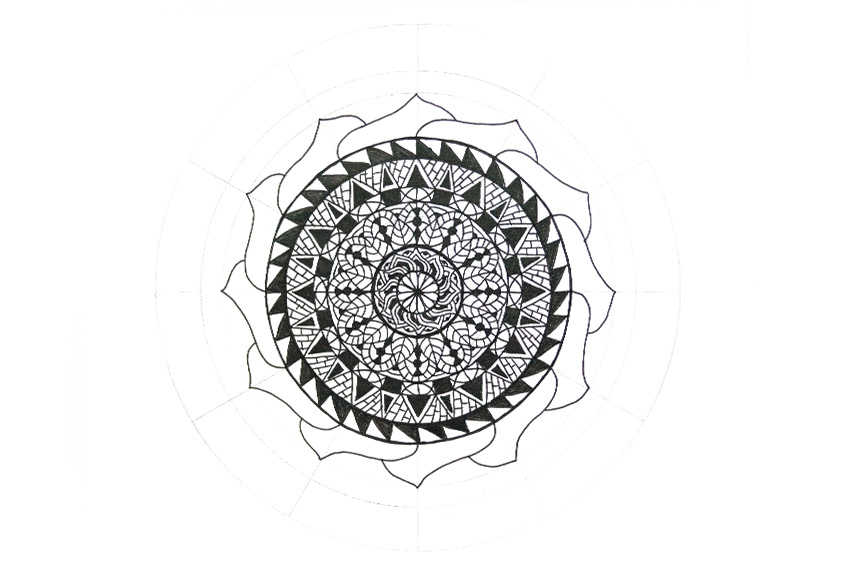 mandala full big flower