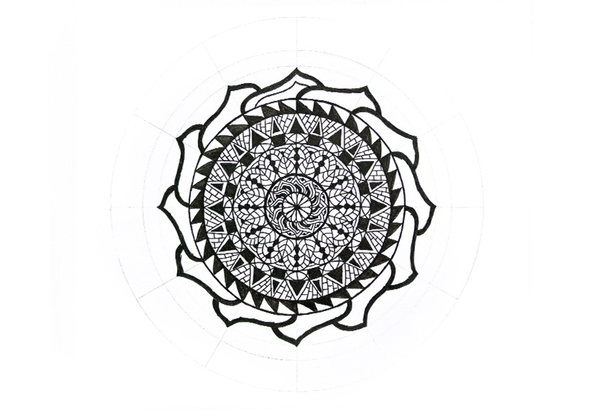 mandala how to make less space
