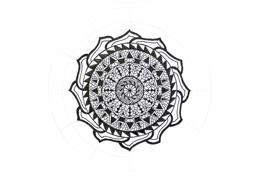 mandala empty space filled