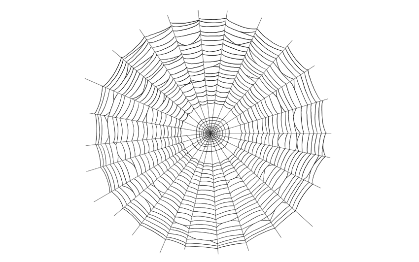how to draw spider web step by step