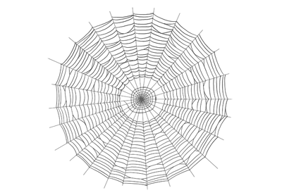 How to draw spider web preview