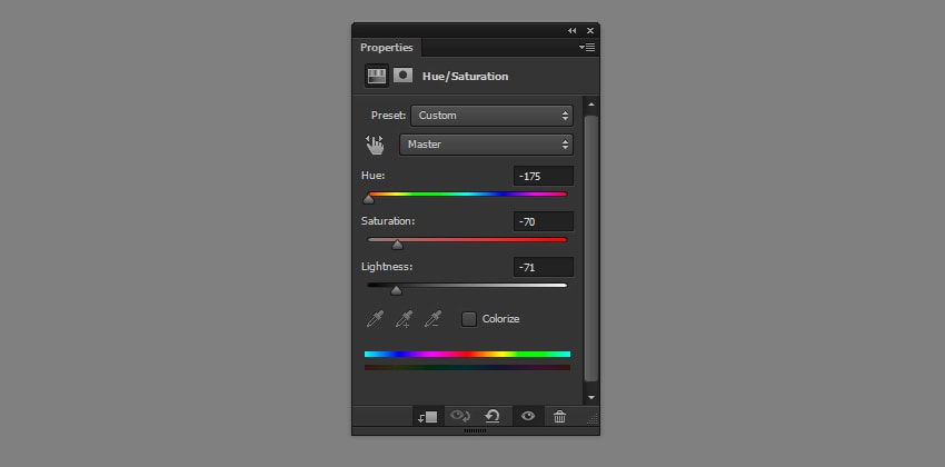 photoshop hue saturation adjustment