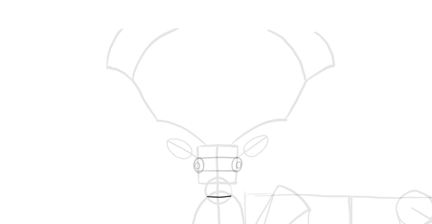 deer mouth proportion