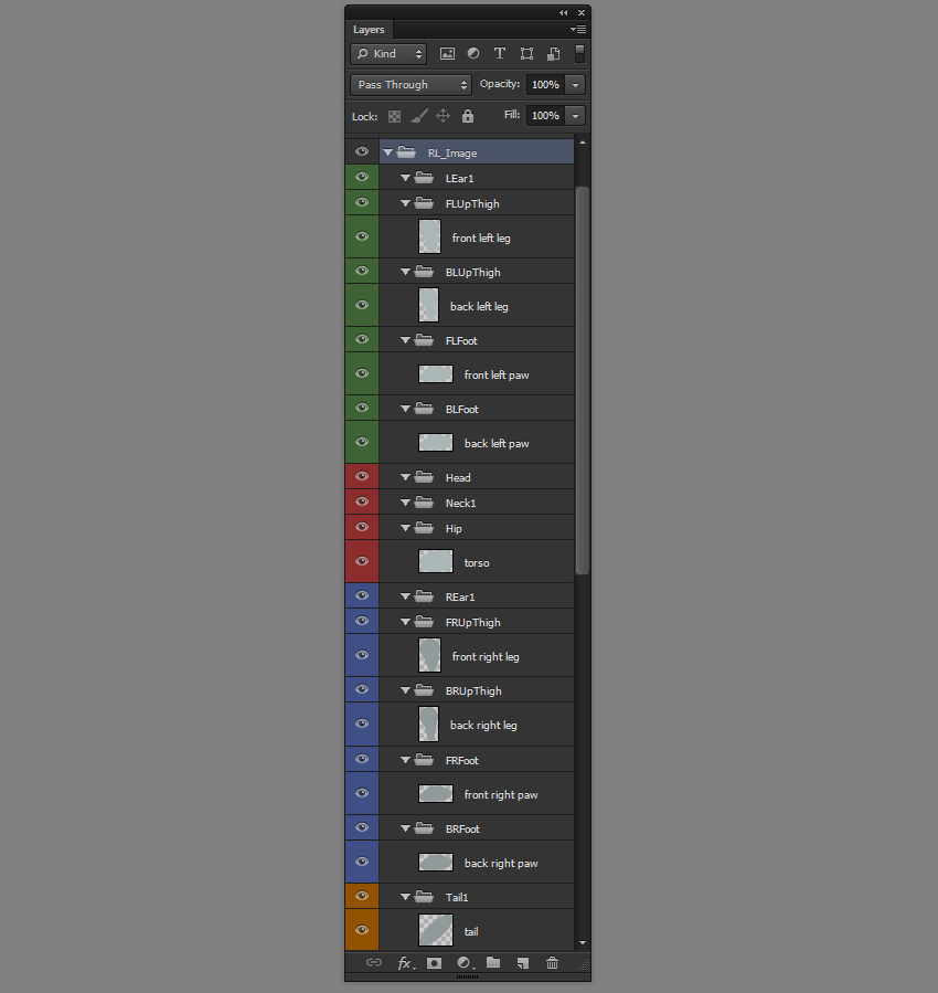 layer order ready for animation