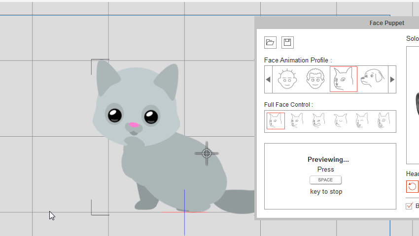 make the character look around crazytalk animator