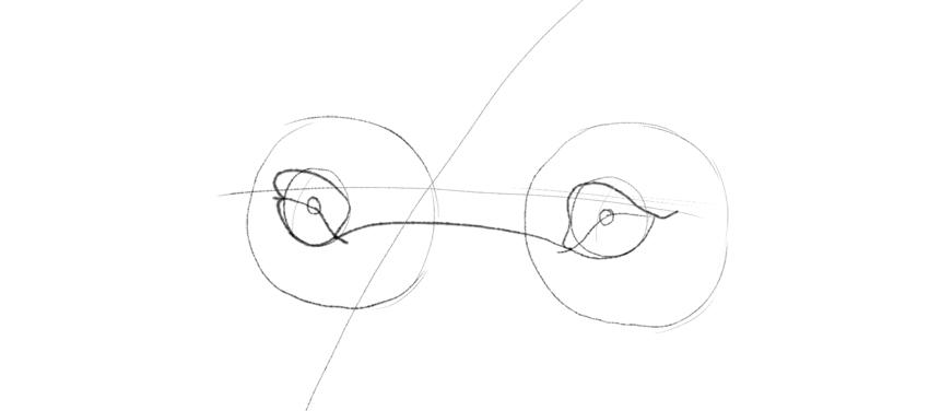 lion eye corner drawing