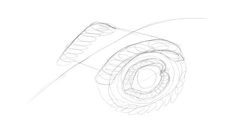 lizard eye wrinkles drawing