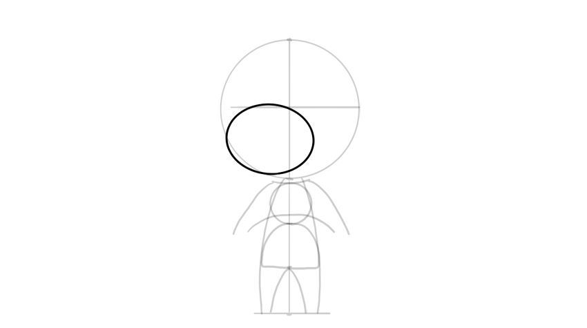 drawing chibi face proportions