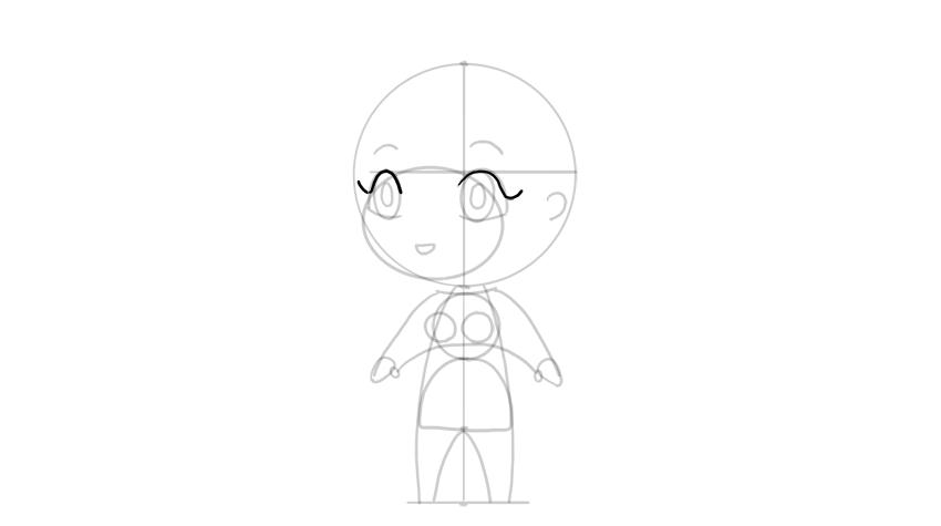 drawing chibi eyelashes