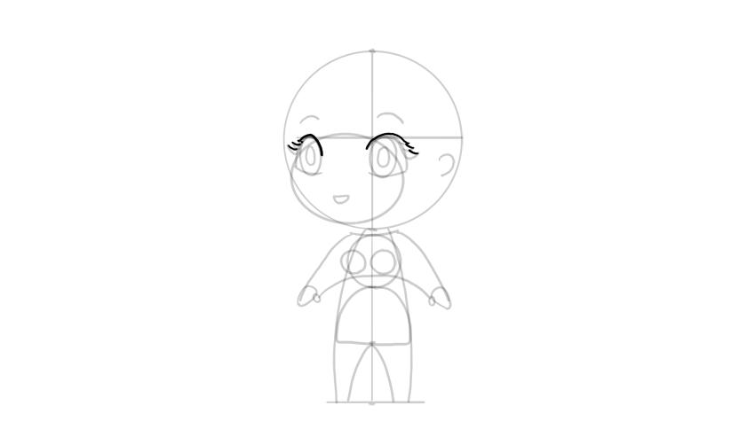 drawing chibi full eyes
