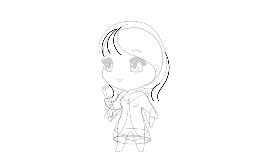 drawing chibi dynamic hair