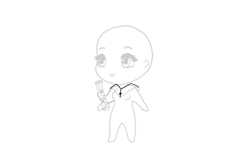 drawing chibi collar full