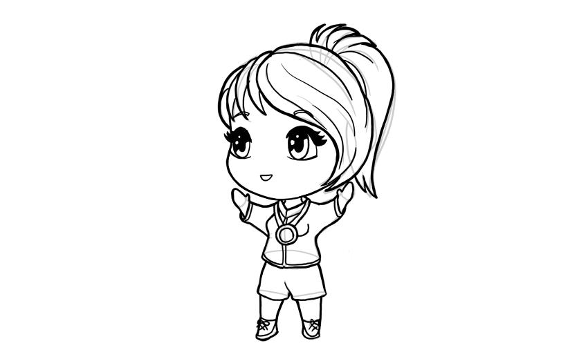 drawing chibi olympic medadlist girl
