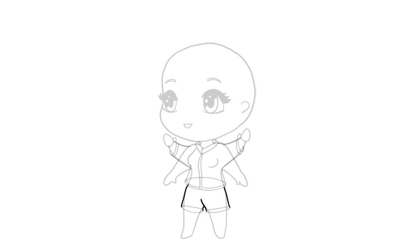 drawing chibi shorts