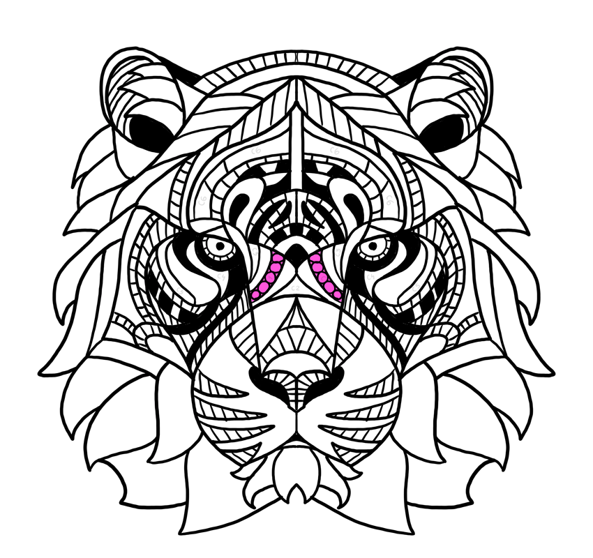 tiger nose pattern