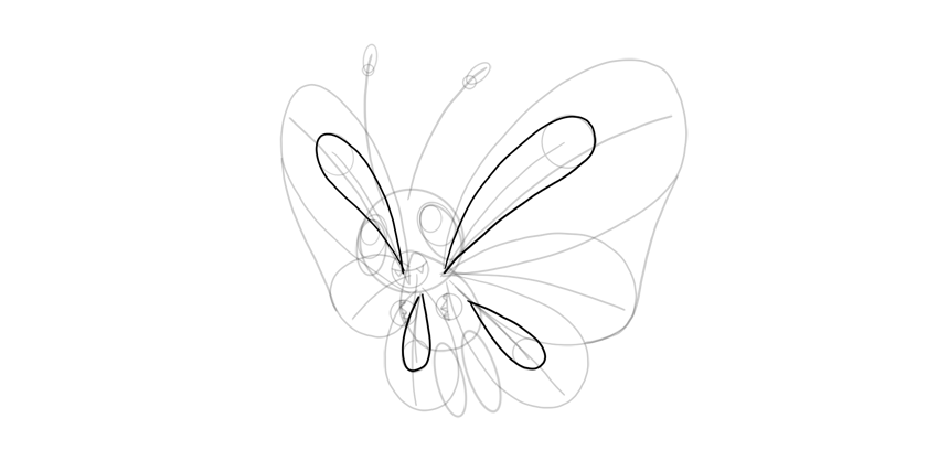 wing pattern butterfree
