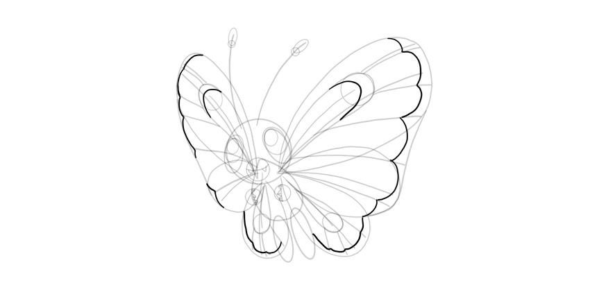 butterfree wings how to draw