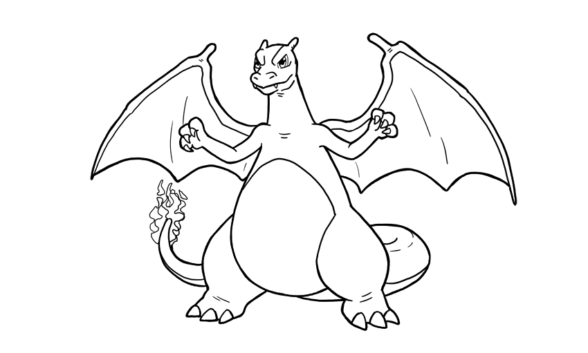 how to draw charizard step by step