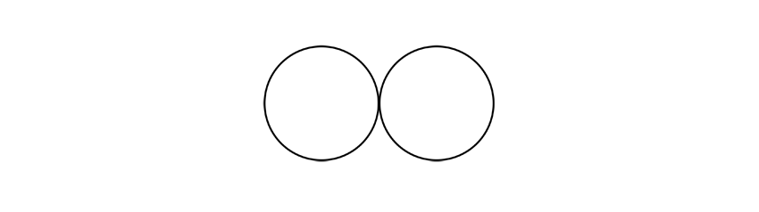 draw two circles
