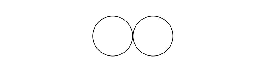 dibuja dos círculos