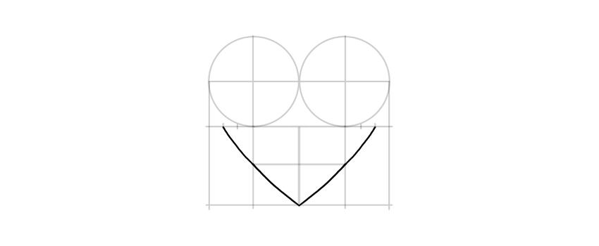 dibuja el fondo del corazón