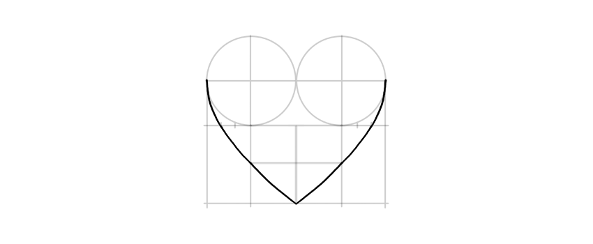 How to draw a heart draw sides of the heart ccuart Image collections