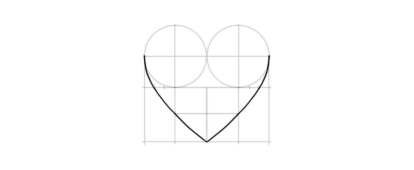 dibuja los lados del corazón