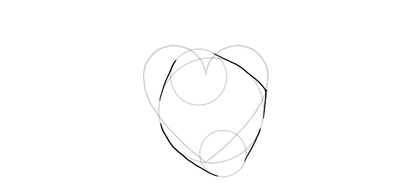 outline the circles