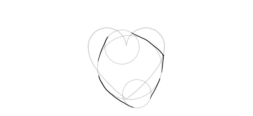 delinear los círculos