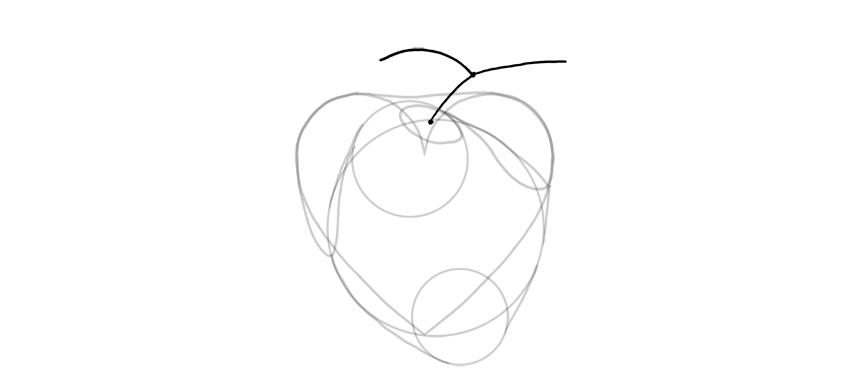 dibujar la forma de la arteria