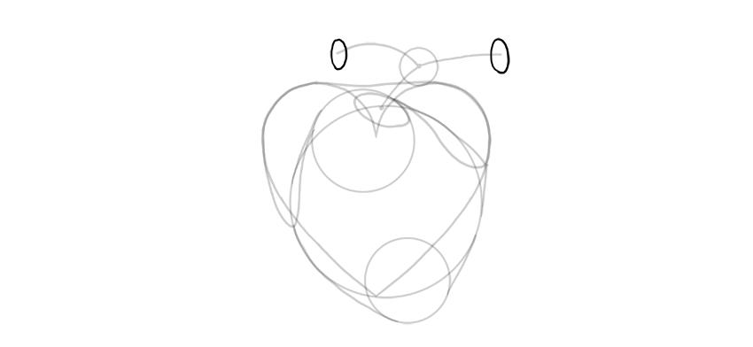 dibujar las aberturas de la arteria