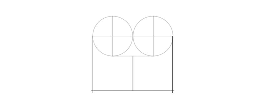 dibuja un rectángulo udner círculos