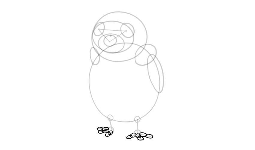how to draw a porg from star wars how to draw a porg from star wars
