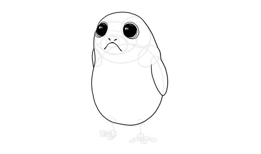 porg body outline