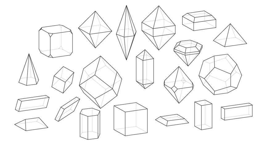 How to Draw All Crystal Shapes