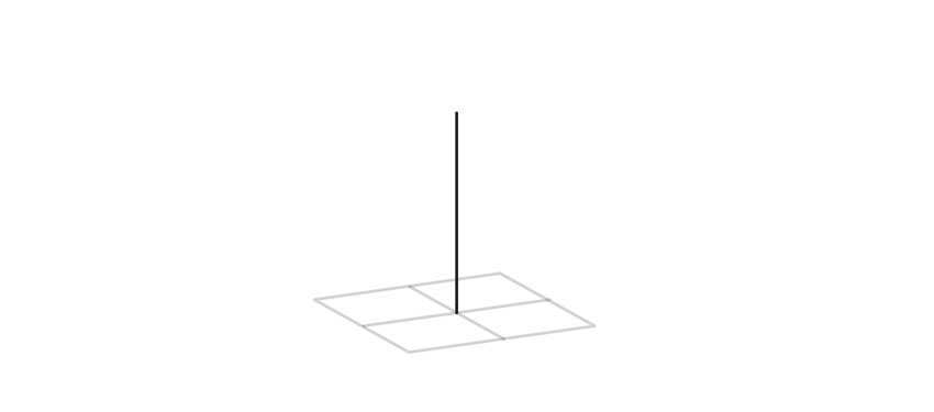draw third axis of a cube