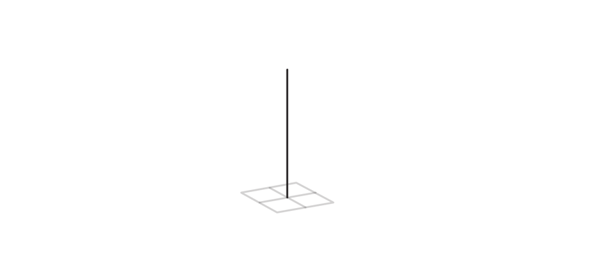 draw third axis of tetragonal crystal