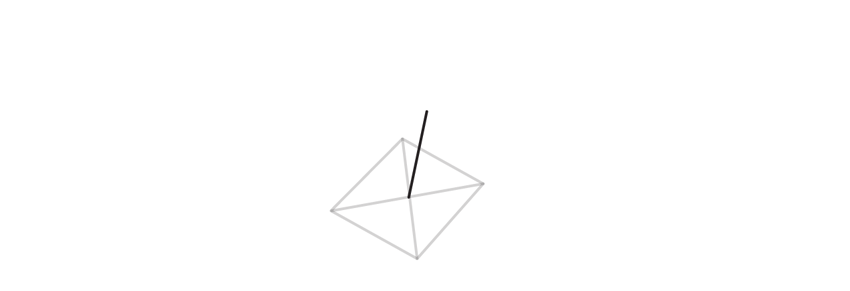 draw third axis of trigonal crystal