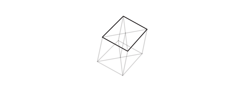 outline upper base of trigonal crystal