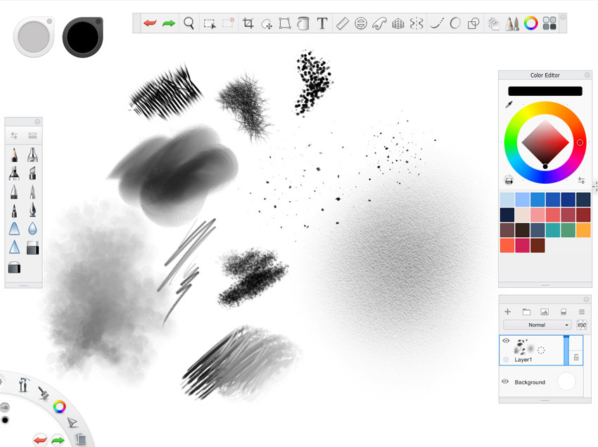 autodesk sketchbook interface