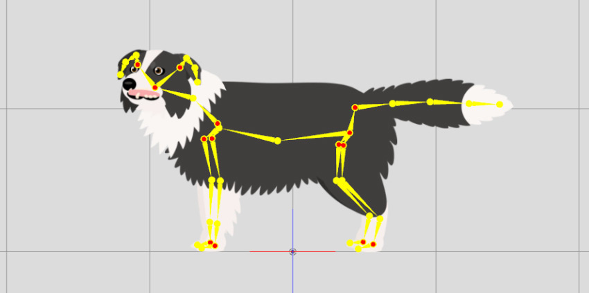 dog added with bones